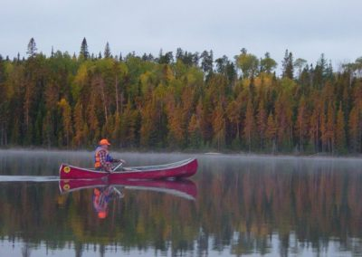 Canoe routes in fall on spanish river