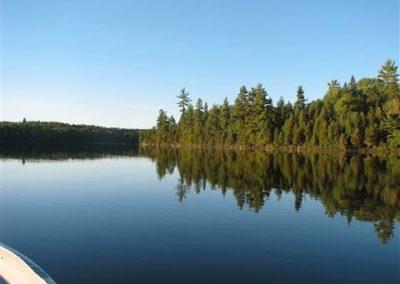 glassy morning on piano lake