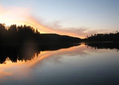 Summer sunset on the spanish river